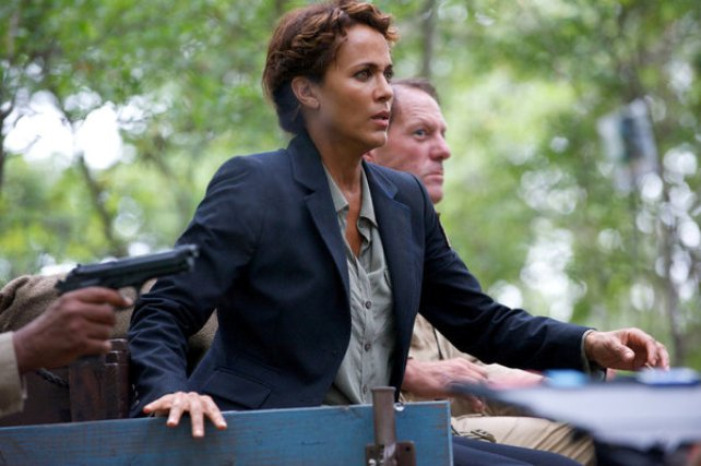 "Revolution S2x05 - Secretary Allenford  is shot ""One Riot, One Ranger"" Episode 205 -- Pictured: Nicole Ari Parker as Secretary Justine Allenford -- (Photo by: Felicia Graham/NBC)"