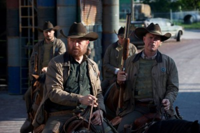 """Revolution S2x05 - The Texas Rangers  arrive in Willoughby""""One Riot, One Ranger"""" Episode 205 -- Pictured: Jim Beaver as Texas Ranger John Franklin Fry -- (Photo by: Felicia Graham/NBC)"""