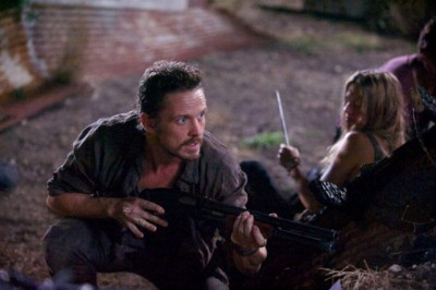 """Revolution S2x05 - Monroe Charlie and Miles are ambushed  """"One Riot, One Ranger"""" Episode 205 -- Pictured: (l-r) David Lyons as Gen. Sebastian Monroe, Tracy Spiridakos as Charlie Matheson -- (Photo by: Felicia Graham/NBC)"""