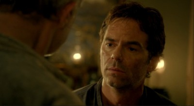 Revolution S2x01 - Miles gets ready to leave Willoughby after tongue lashing from Rachel's father