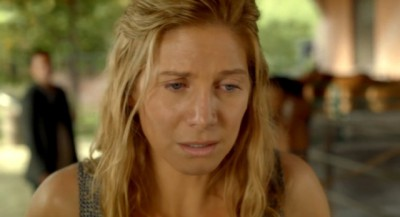 Revolution S2x01 - Rachel begs Miles to stay, but Miles tells Rachel bad things happen when we are together