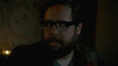 Revolution S2x02 - Aaron begins to sob to Rachel after his resurrection
