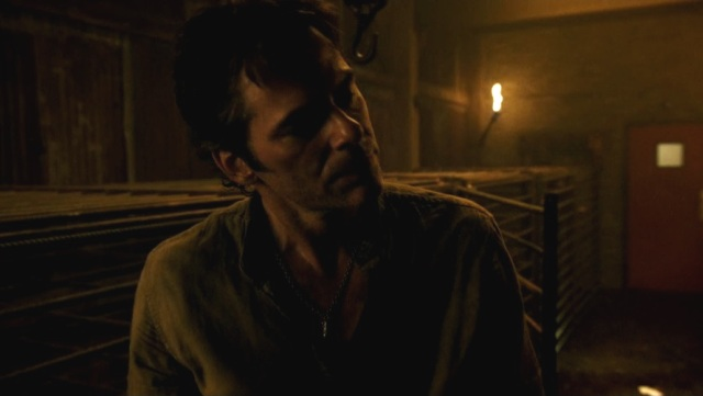 Revolution S2x02 - Miles picks his handcuff and cage lock and is ready to escape