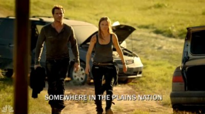 Revolution S2x03 - Adam and Charlie have a chat about Monroe somewhere in The Plains Nation