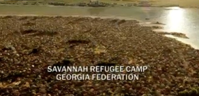 Revolution S2x03 - Day break at the Savannah refugee camp