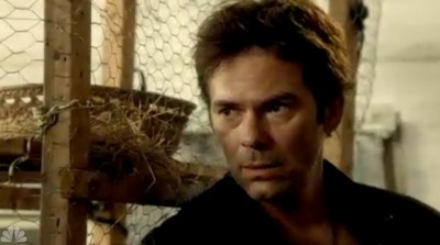 Revolution S2x05 - Miles recognizes Texas Ranger Fry from a past life