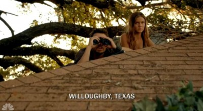 Revolution S2x05 - Monroe and Charlie survey the situation inside Willoughby