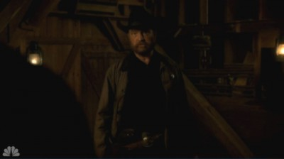 Revolution S2x05 - Texas Ranger Fry arrives for the meeting with Miles