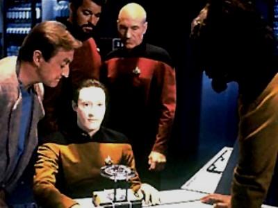 Star Trek TNG - The nanites enter Data