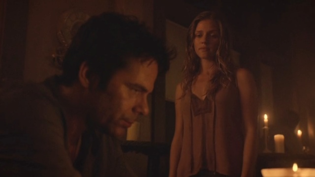 Revolution S2x06 - Charlie finds Miles drinking after Monroe is apparently executed