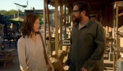 Revolution S2x07 - Aaron and Cynthia talk about the danger in town just before the explosion in town