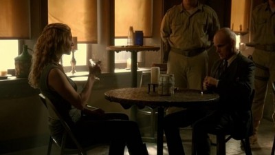 Revolution S2x07 - Doctor Horn interrogates Rachel about the Nanite technology she invented