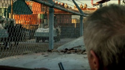 Revolution S2x10 - Gene spots the wagons with oranges entering Willoughby