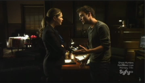 Sanctuary S4x04 - Abby and Will argue in the office