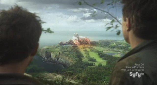 Sanctuary S4x10 - The building explodes - Is Magnus alive?