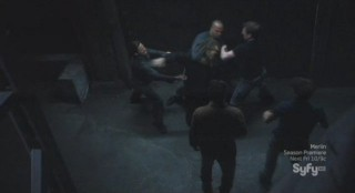 Sanctuary S4x13 - Big Guy is over powered