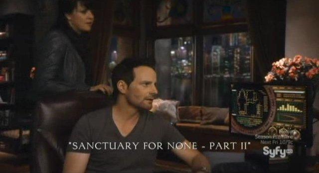 Sanctuary S4x13 - For None title slide