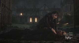 Sanctuary S4x13 - Magnus finds Big Guy left for dead
