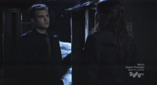 Sanctuary S4x13 - Will with Magus in the old city