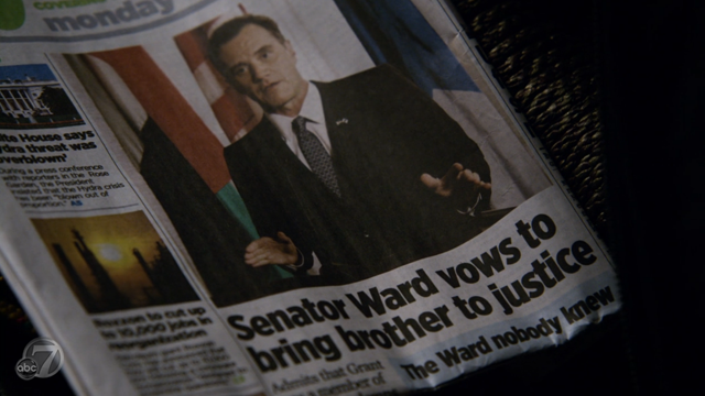 Agents of SHIELD - S2x07 - The Writing on the Wall - Senator Ward Paper