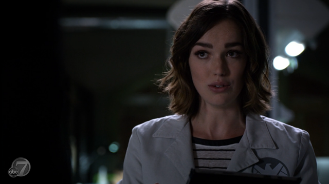 Agents of SHIELD - S2x07 - The Writing on the Wall - Simmons Talking
