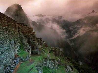 Foggy Machu Pichu - Image courtesy National Geographic