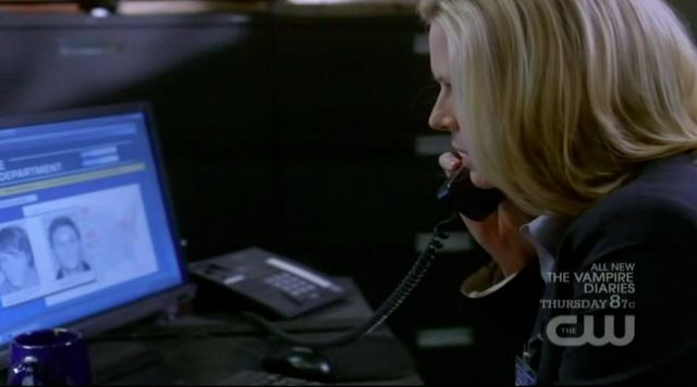 Supernatural S7x13 - Charlene on the phone with Madeline telling her who Sam and Dean are