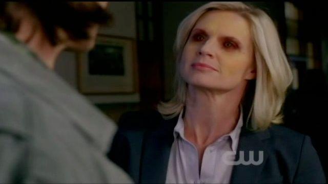 Supernatural S7x13 - Charlene's eyes turn red
