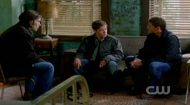 Supernatural S7x15 - Sam and Dean talk to Jeffrey about the demon