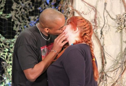 Supernatural BurCon 2012 - Rick Worthy kisses a very lucky fan