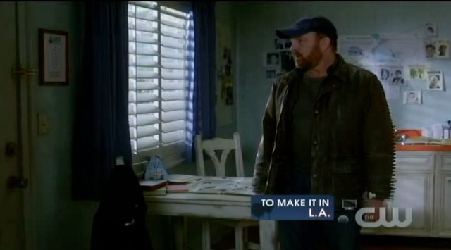 Supernatural S7x19 - Bobby left behind with flask