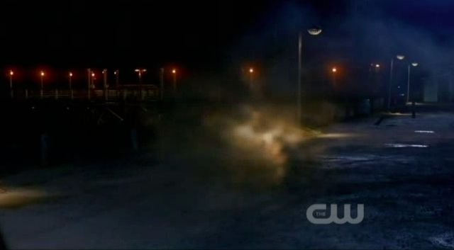 Supernatural S7x19 - Whitman being knocked back to the house
