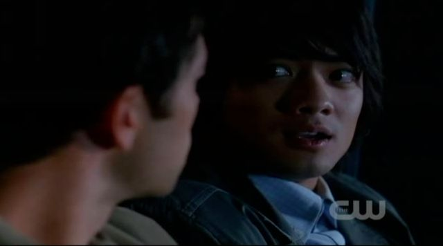 Supernatural S7x21 - Castiel shows up in the car