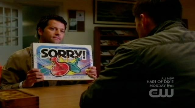 Supernatural S7x21 - Castiel wants to play Sorry