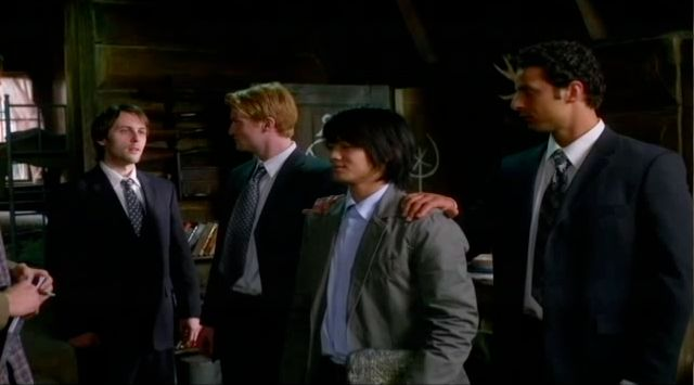 Supernatural S7x21 - Inias tells two angels to take Kevin home
