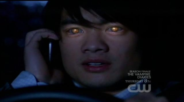 Supernatural S7x21 - Kevin on the phone with Channing