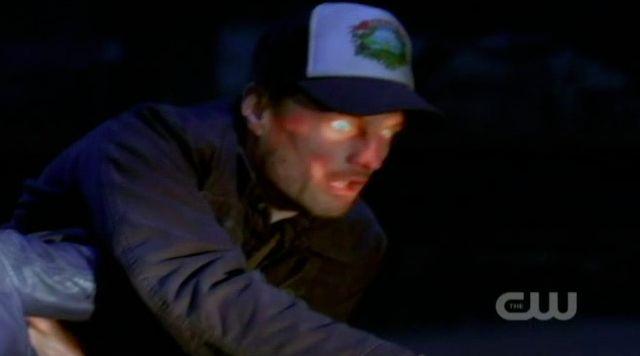 Supernatural S7x21 - Meg kills truck driver demons