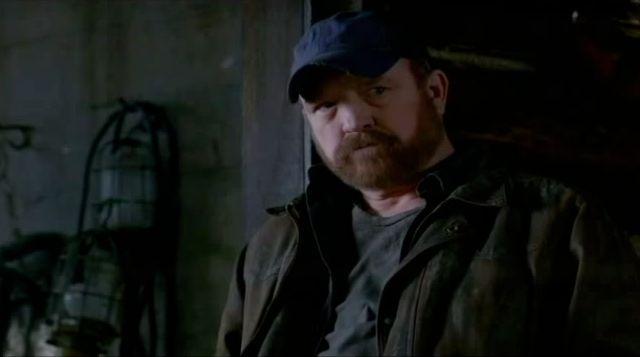 Supernatural S7x22 - Bobby looking at Dean and Sam