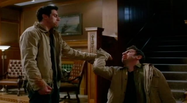 Supernatural S7x22 - Edgar takes on Morts appearance and kills him