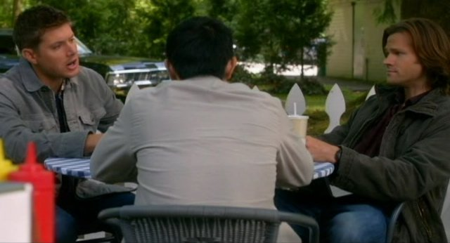 Supernatural S8x02 - Dean Sam and Kevin discussing what has happened