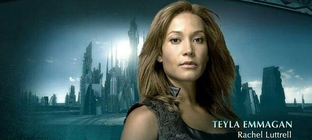 Rachell Lutrell as Teyla in Stargate Atlantis