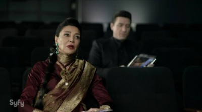 The Expanse S1x02 Chrisjen Avasarala is chewed out by her boss