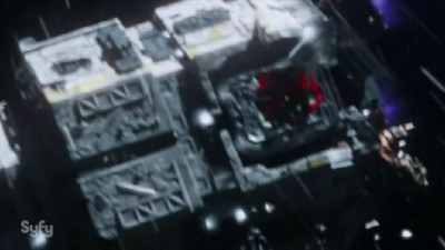 The Expanse S1x02 The shuttle Knight damaged airlock