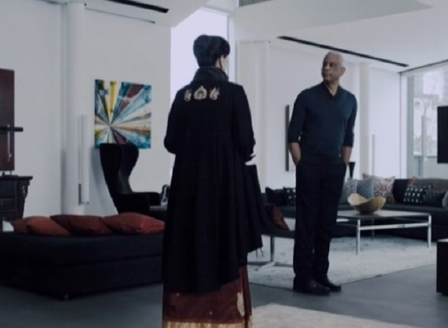 The Expanse S1x09 Chrisjen meets Craig at Franklin's Anchorage Island home