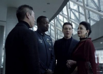 The Expanse S1x10 Chrisjen, Errinwright and Admiral Souther the UN