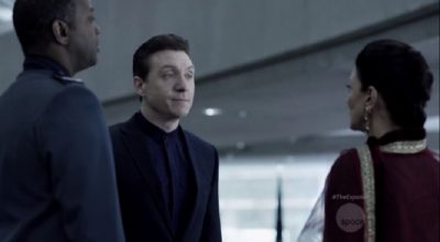 The Expanse S1x10 Errinwright tells Chrisjen and Admiral Souther about stealth ships