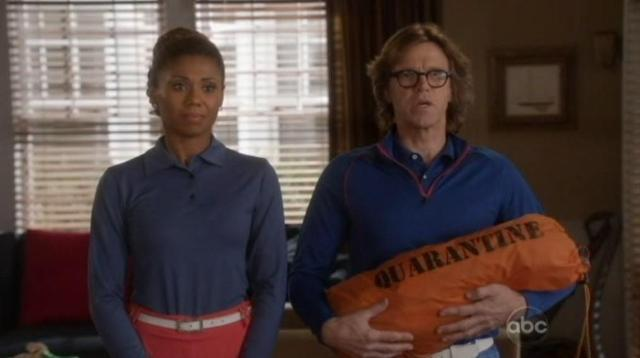 The Neighbors S1x12 Jackie and Larry with quarantine tent