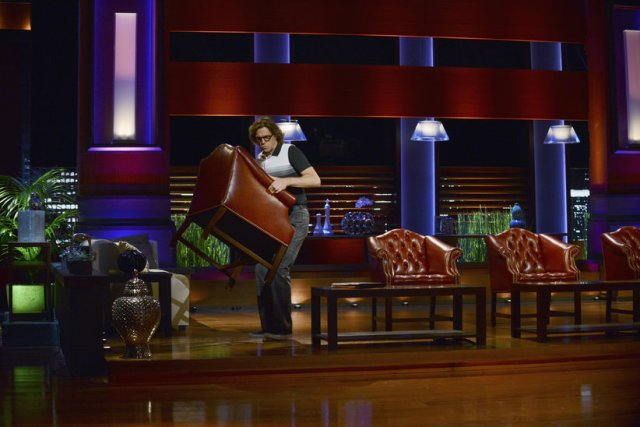 The Neighbors S2X07 Larry walks away with a chair