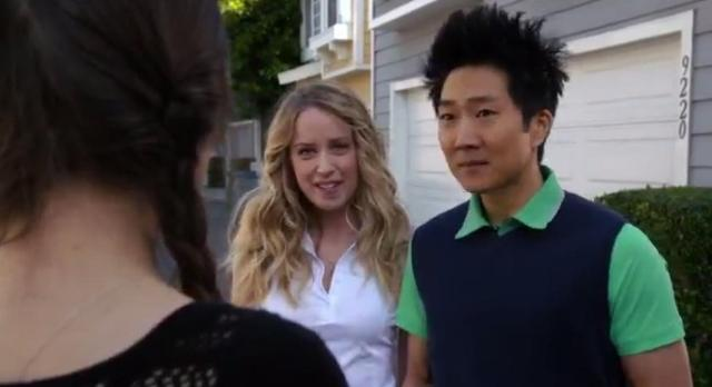 The Neighbors 02x15 Reggie tells Amber no with Jane beside him