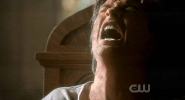 The Vampire Diaries 3x07 Damon reacts to the light